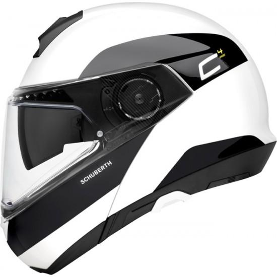 Schuberth C4 Pro Fragment White Modular Helmet