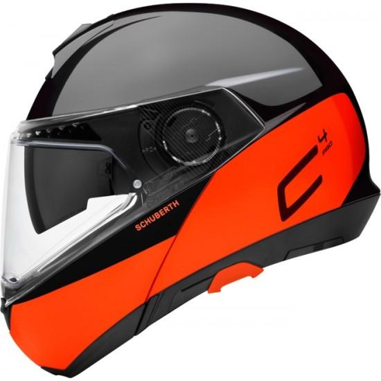 Schuberth C4 Pro Swipe Orange Modular Helmet
