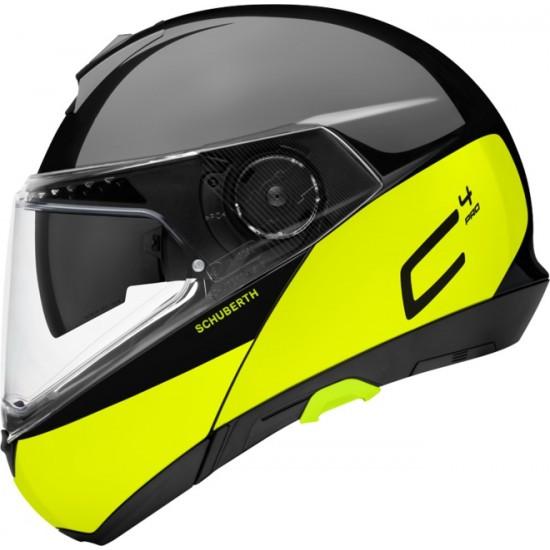 Schuberth C4 Pro Swipe Yellow Modular Helmet
