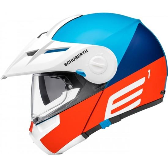 Schuberth E1 Cut Blue Modular Helmet