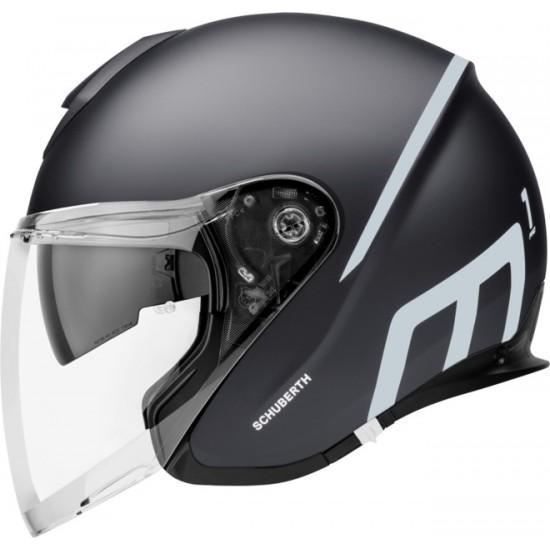 Schuberth M1 Pro Strike Black Open Face Helmet