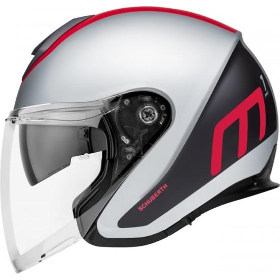 Schuberth M1 Pro Triple Red Open Face Helmet