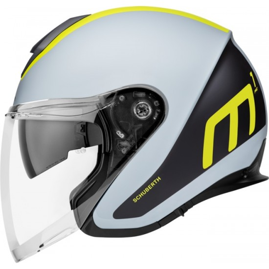 Schuberth M1 Pro Triple Yellow Open Face Helmet